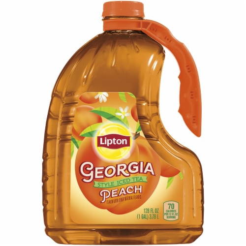 Lipton Georgia Style Peach Iced Tea Perspective: front