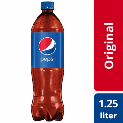 Pepsi Cola Soda Bottle Perspective: front