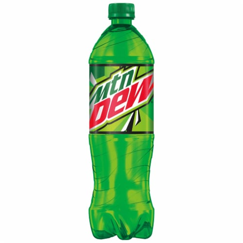 Mountain Dew Soda Bottle Perspective: front