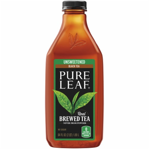 Pure Leaf Unsweetened Black Brewed Iced Tea Perspective: front