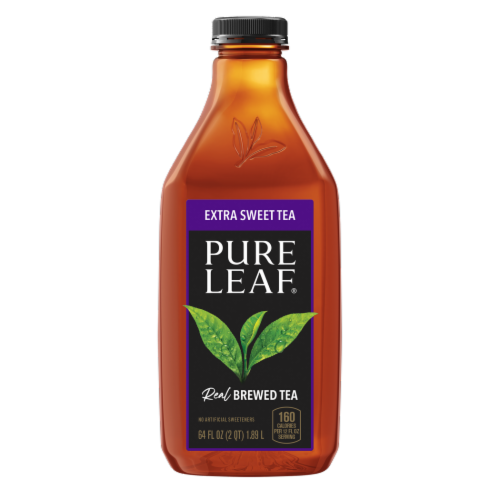 Pure Leaf Extra Sweet Tea Brewed Iced Tea Bottle Perspective: front