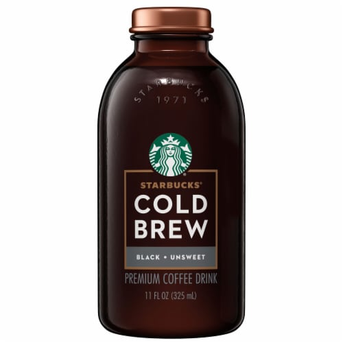 Starbucks Cold Brew Unsweetened Black Iced Coffee Drink Perspective: front