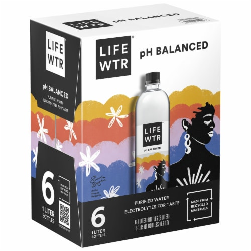 LIFEWTR with Electrolytes Purified Life Water Perspective: front
