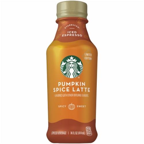 Starbucks Pumpkin Spice Latte Iced Coffee Espresso Beverage Perspective: front