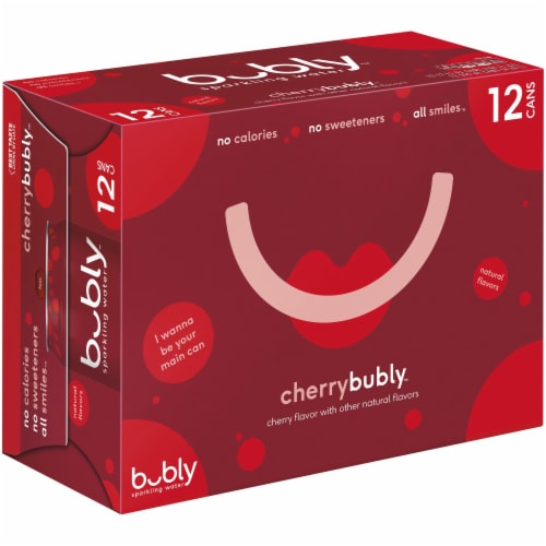 bubly Cherry Sparkling Water Perspective: front