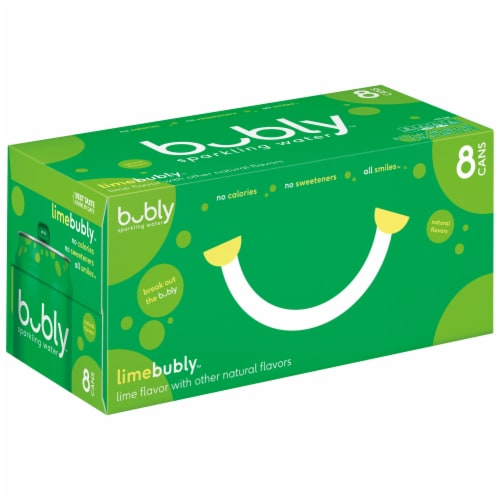 bubly Sparkling Water Lime 8 Pack Perspective: front
