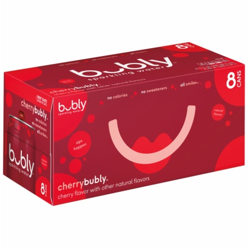 bubly Sparkling Water Cherry 8 Pack Perspective: front