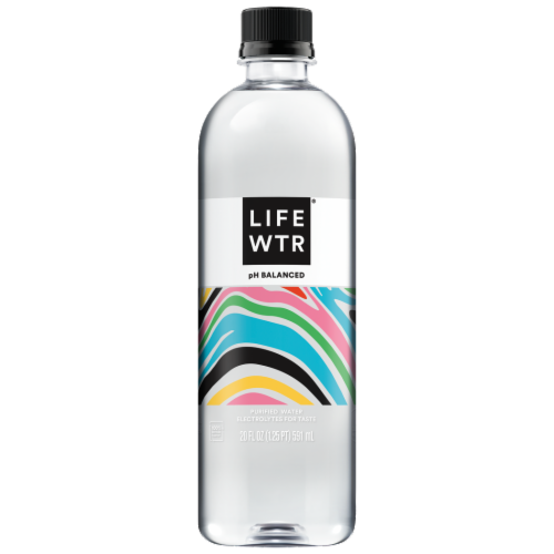 LIFEWTR Purified with Electrolytes Premium Life Water Bottle Perspective: front
