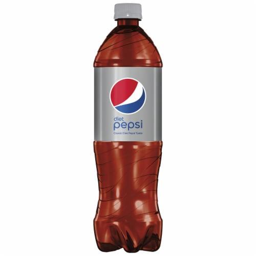 Diet Pepsi Cola Soda Bottle Perspective: front
