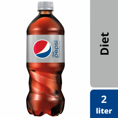 Diet Pepsi Cola Soda Perspective: front