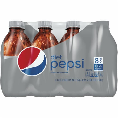 Diet Pepsi Cola Soda Bottles Perspective: front