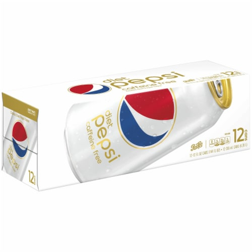 Diet Pepsi Cola Caffeine Free Soda Perspective: front