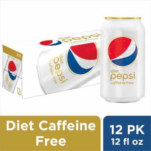 Diet Pepsi® Cola Caffeine Free Soda Perspective: front