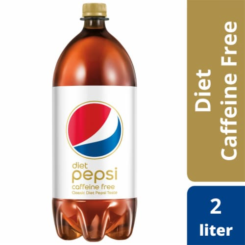 Diet Pepsi Cola Caffeine Free Bottled Soda Perspective: front
