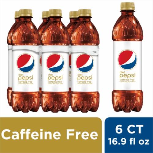 Diet Pepsi Cola Caffeine Free Soda Perspective: front