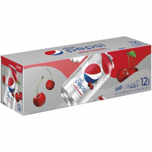 Diet Pepsi Cola Wild Cherry Soda Perspective: front