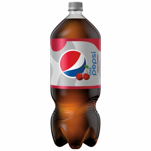 Diet Pepsi Cola Wild Cherry Bottled Soft Drink Perspective: front