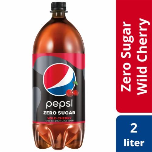 Pepsi Cola Zero Sugar Wild Cherry Soda Perspective: front