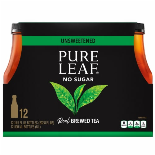 Pure Leaf Unsweetened Black Tea Perspective: front