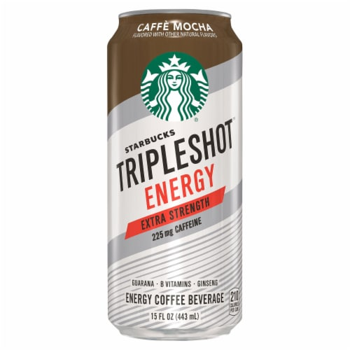 Starbucks TripleShot Caffe Mocha Extra Strength Energy Coffee Beverage Perspective: front