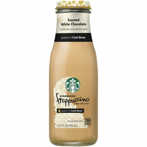 Starbucks Frappuccino Toasted White Chocolate with Cold Brew Chilled Coffee Drink Perspective: front