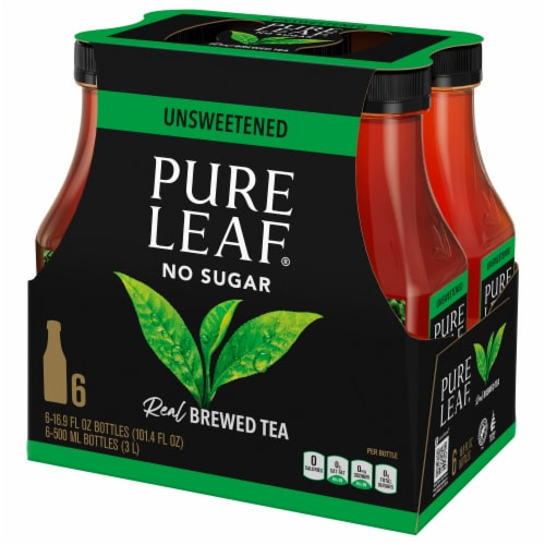 Pure Leaf Unsweetened Brewed Iced Tea Perspective: front
