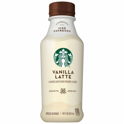 Starbucks Vanilla Latte Iced Coffee Espresso Beverage Perspective: front