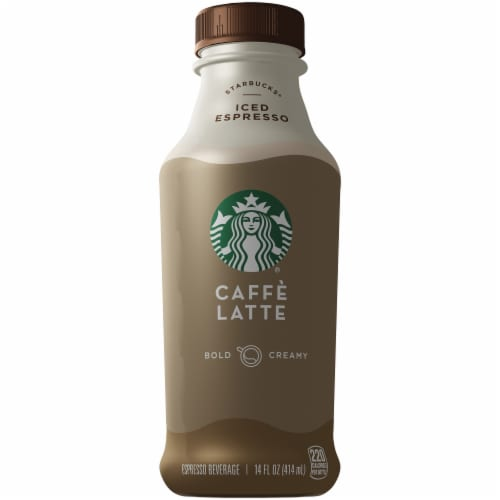 Starbucks Caffe Latte Iced Coffee Espresso Beverage Perspective: front