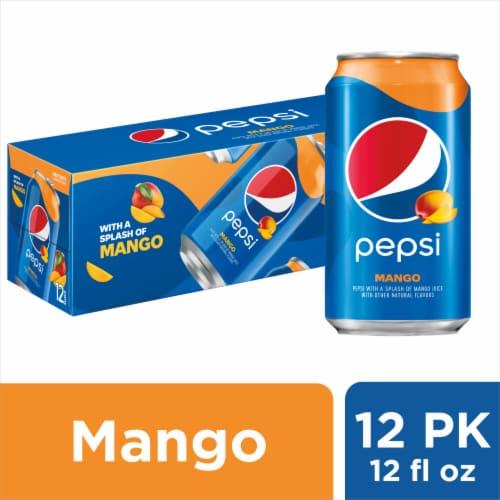 Pepsi Cola Splash of Mango Soda 12 Pack Perspective: front