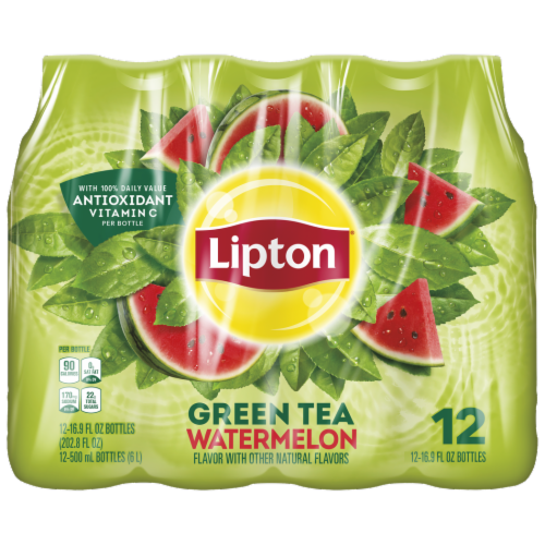 Lipton Watermelon Iced Green Tea Perspective: front
