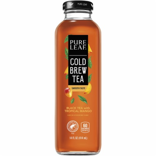 Pure Leaf Cold Brew Iced Black Tea with Tropical Mango Perspective: front