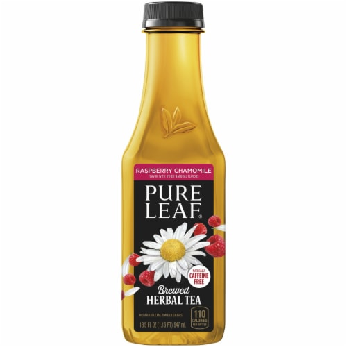 Pure Leaf Raspberry Chamomile Brewed Herbal Tea Perspective: front
