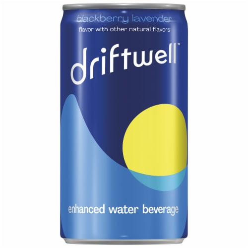 Driftwell Blackberry Lavender Enhanced Water Beverage Perspective: front