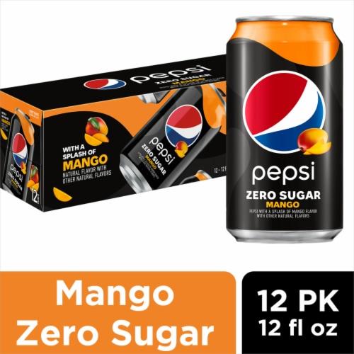 Pepsi Mango Zero Sugar Soda Perspective: front