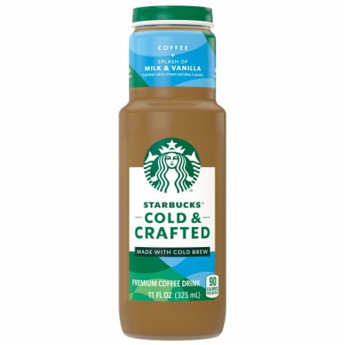 Starbucks Cold & Crafted Splash of Milk & Vanilla Premium Coffee Drink Perspective: front