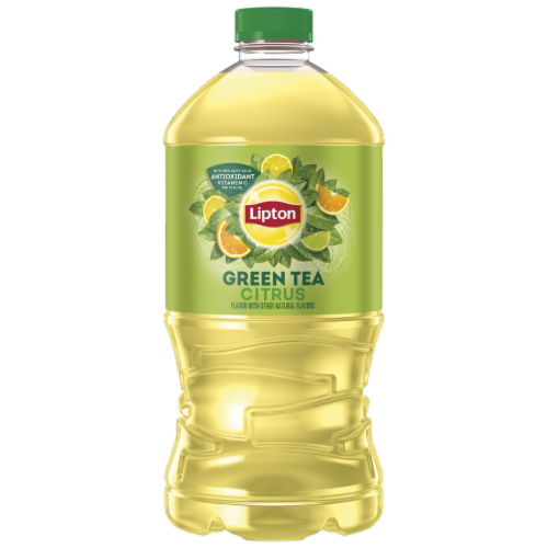 Lipton Green Iced Tea with Citrus Perspective: front