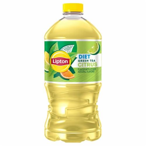 Lipton Diet Citrus Green Tea Perspective: front