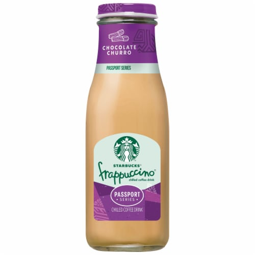 Starbucks® Frappuccino® Chocolate Churro Iced Coffee Drink Perspective: front
