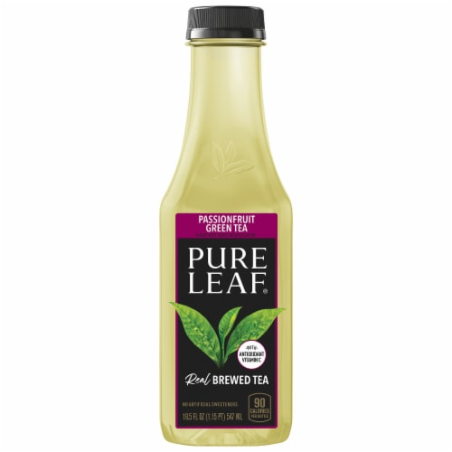 Pure Leaf Real Brewed Passionfruit Green Tea Perspective: front