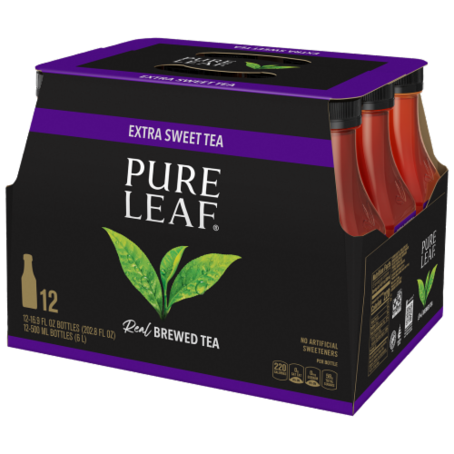 Pure Leaf Real Brewed Extra Sweet Tea Perspective: front