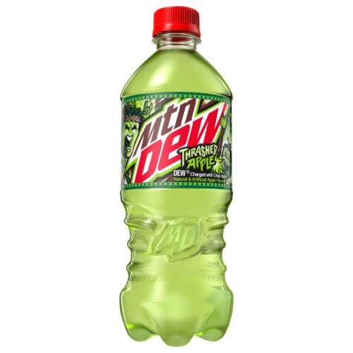 Mountain Dew Thrashed Apple Soda - Exclusive Item! Perspective: front