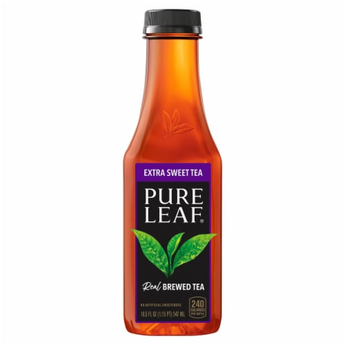 Pure Leaf Extra Sweet Brewed Iced Tea Bottle Perspective: front