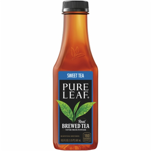 Pure Leaf Sweet Tea Brewed Iced Black Tea Perspective: front