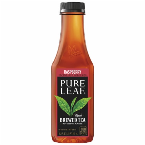 Pure Leaf Raspberry Brewed Iced Tea Perspective: front