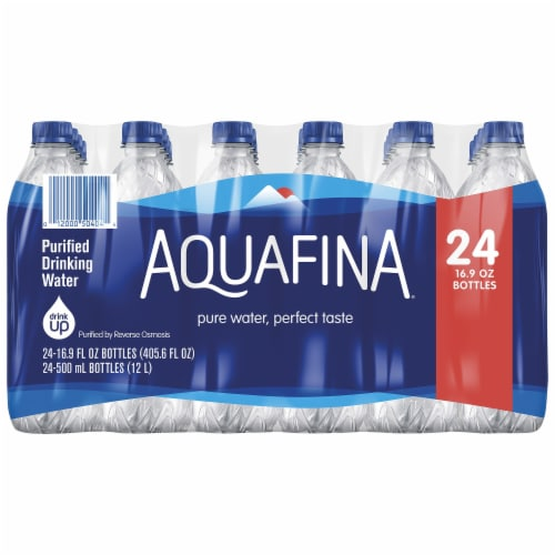 Aquafina Purified Bottled Water Perspective: front