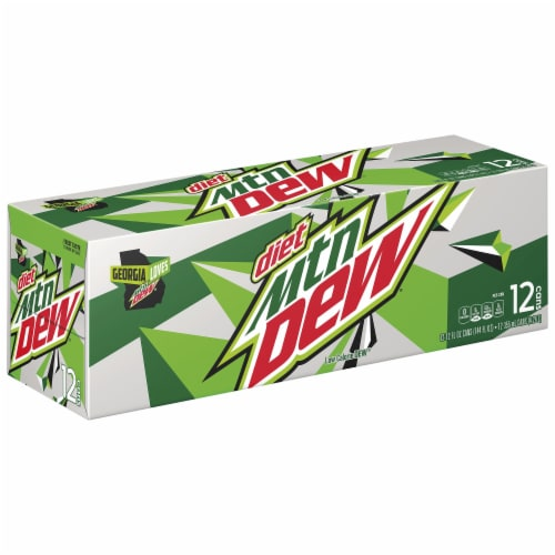 Diet Mountain Dew Soda Perspective: front