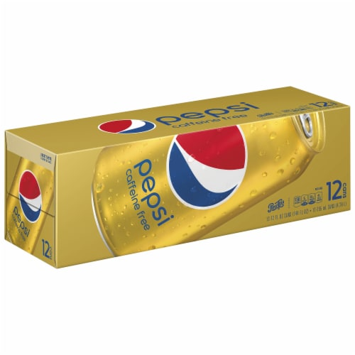 Pepsi Cola Caffeine Free Soda 12 Pack Perspective: front