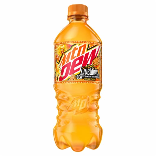 Mountain Dew Live Wire Orange Flavored Soda Perspective: front