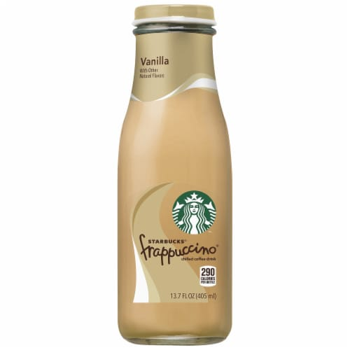 Starbucks Frappuccino Vanilla Iced Coffee Drink Bottle Perspective: front