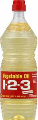 1-2-3 Vegetable Oil Perspective: front
